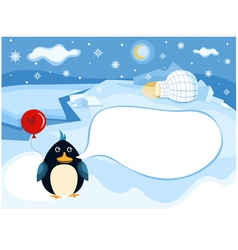 north pole background vector image vector image