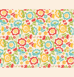 retro style summer flower seamless pattern in vector image vector image