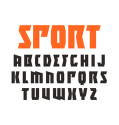 sanserif font in sport style vector image vector image