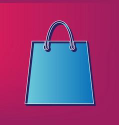 Shopping bag blue 3d printed vector