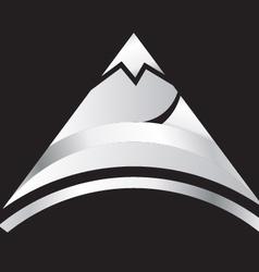 silver mountain vector image