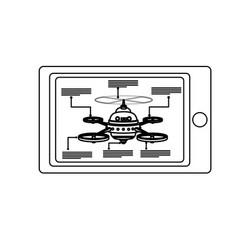 Smart controller digital drone technology vector