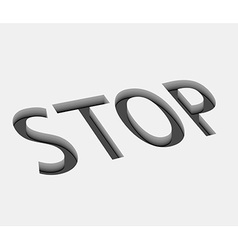 stop icon design vector image vector image