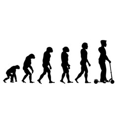 Theory evolution of human from monkey to man on vector