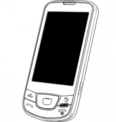 vector mobile phone vector image vector image
