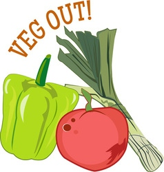 Veg out vector