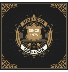 Vintage label premium - vector
