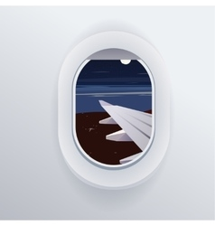 View from airplane window plane vacation vector