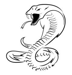 hand draw king cobra vector image