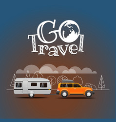 summer travel go travel concept vector image