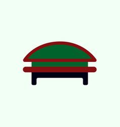 circular park bench vector image