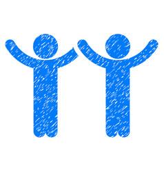 hands up children grunge icon vector image