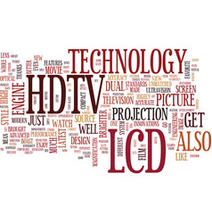 Lcd hdtv text background word cloud concept vector
