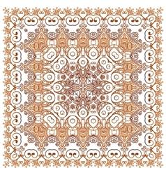 Vintage beige lacy ornate shawl pattern vector