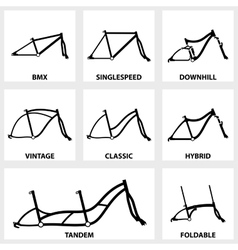 Bicycle frame icon vector