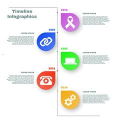 Colorful timeline infographics vector