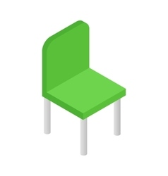 Green simple chair isometric 3d icon vector