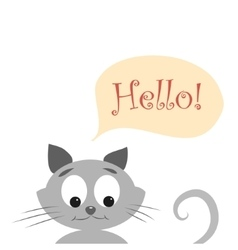 Cat with hello vector