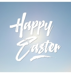Easter sign - happy easter easter wish overlay vector