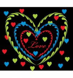love graphic vector image