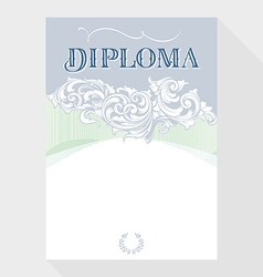 Diploma blue grey vector