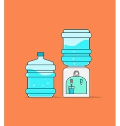 Water cooler dispenser  full vector image