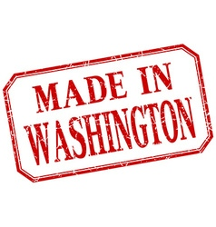 Washington - made in red vintage isolated label vector image