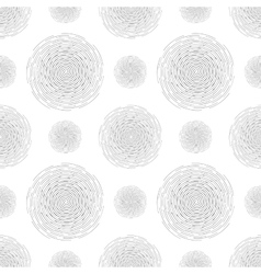 Abstract seamless spiral design pattern Circular vector image
