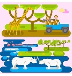 African safari concept vector