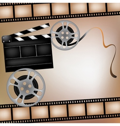 Background with film and club board vector image