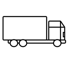 business delivery shop shopping truck icon vector image