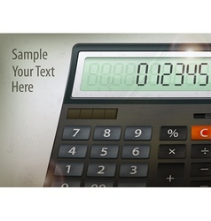 Calculator text vector
