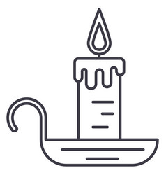 candle line icon sign on vector image