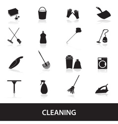 Cleaning icons set eps10 vector