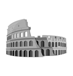 Colosseum in italy icon in monochrome style vector