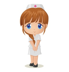 Cute cartoon of a nurse vector