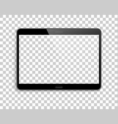 device mockup transparent screen background vector image