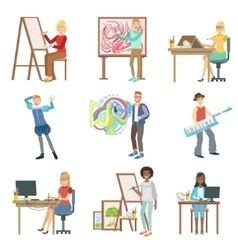 Different Artistic Professions Set Of vector image vector image
