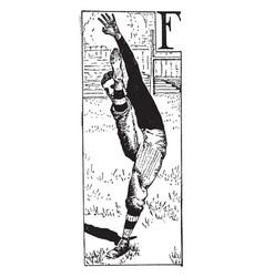 Football player vintage vector