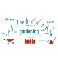 Gardening tools set of flat design using ui vector