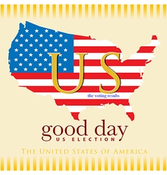 Good day voting results us election vector