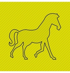 horse silhouette design vector image vector image