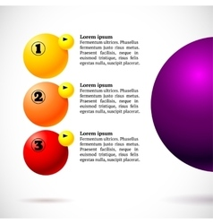 Infographics with group of flying balls vector image vector image