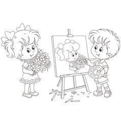 Little painter vector image