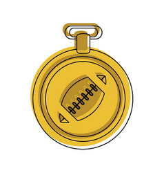 Medal with ball american football related icon vector