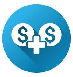 Money sum gradient round icon vector