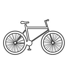 Mountain bike icon on white background vector