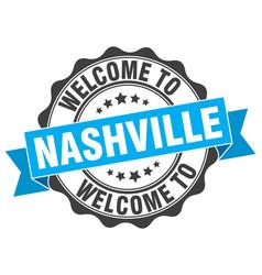 Nashville round ribbon seal vector