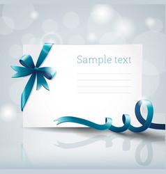 ribbon greeting card vector image vector image