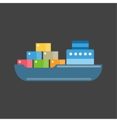 Sea ship transport vector image